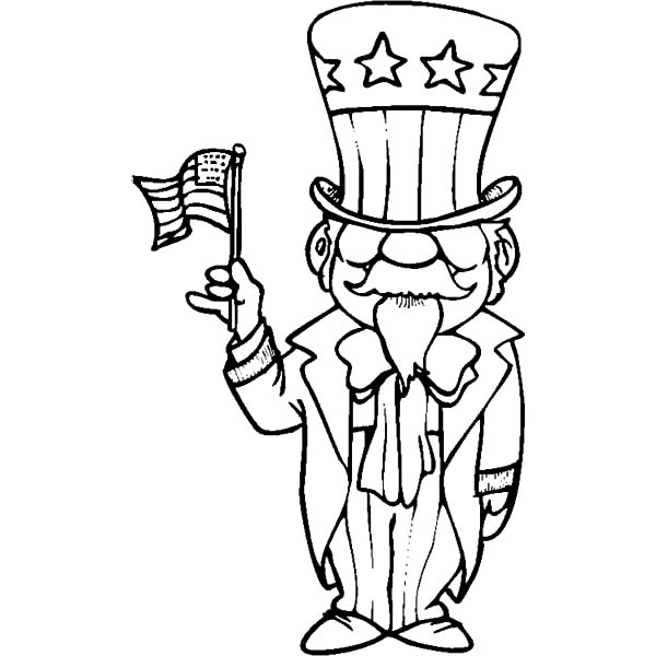 uncle sam coloring pages