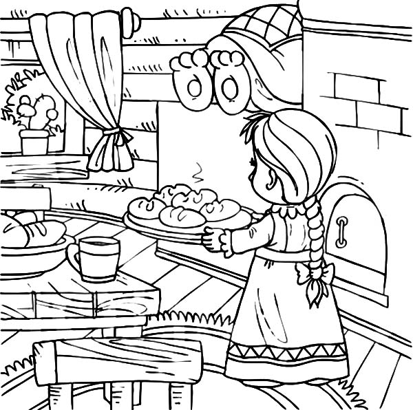 Baking Bowl Coloring Coloring Pages
