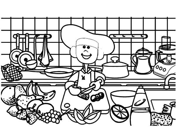 cooking coloring pages # 30