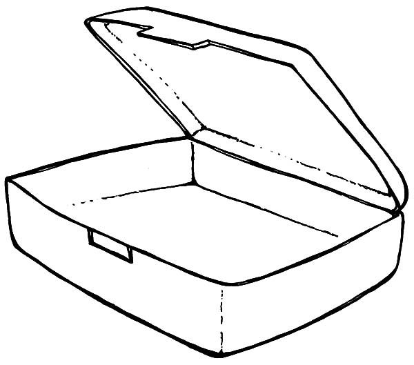 Empty Lunchbox Coloring Pages: Empty Lunchbox Coloring