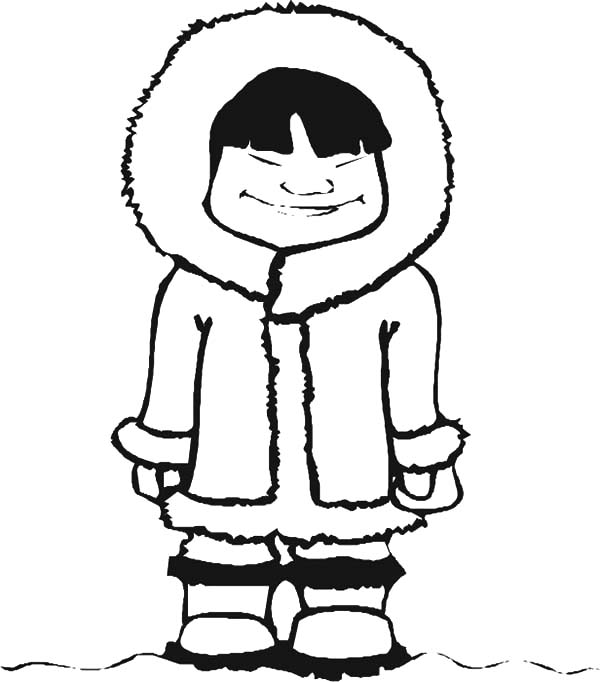 Eskimos Cartoon Pictures Coloring Pages An Eskimo Girl