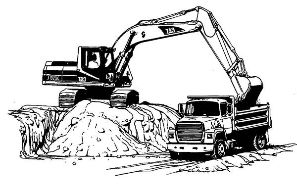 Excavator Coloring Pages: Excavator Coloring Pages