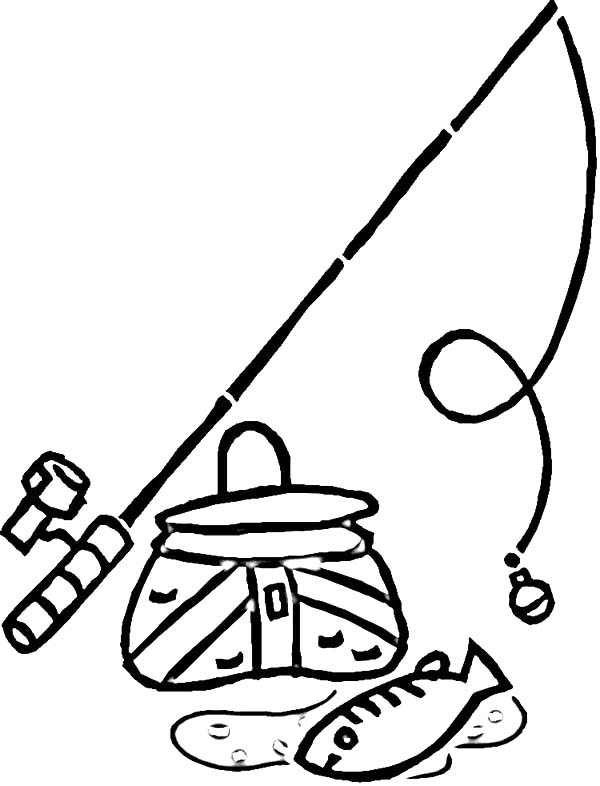 Golf Fish Coloring Page