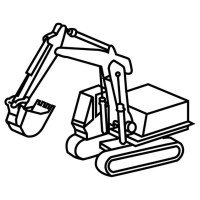 Mini Excavator Coloring Pages Sketch Coloring Page