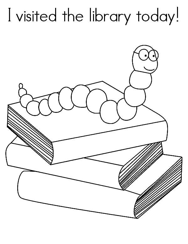 Library Mouse Sheet Coloring Pages