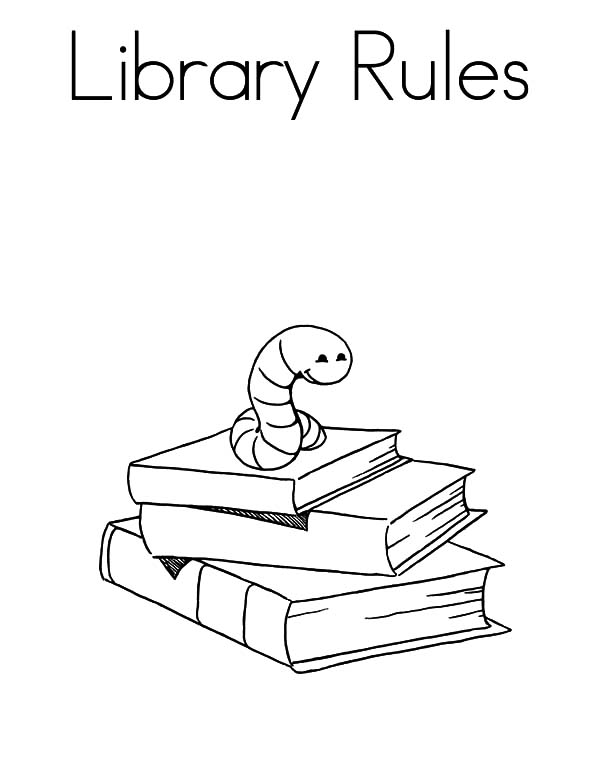 library fun coloring pages