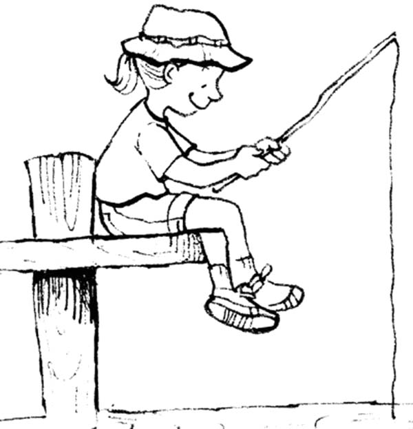 Free Coloring Pages Of Spear Fishing For