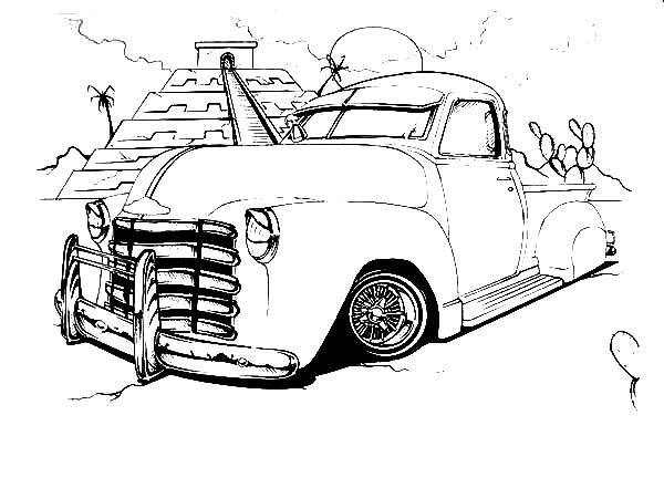 Lowrider Cars : Lowrider Cars in Peru Coloring Pages