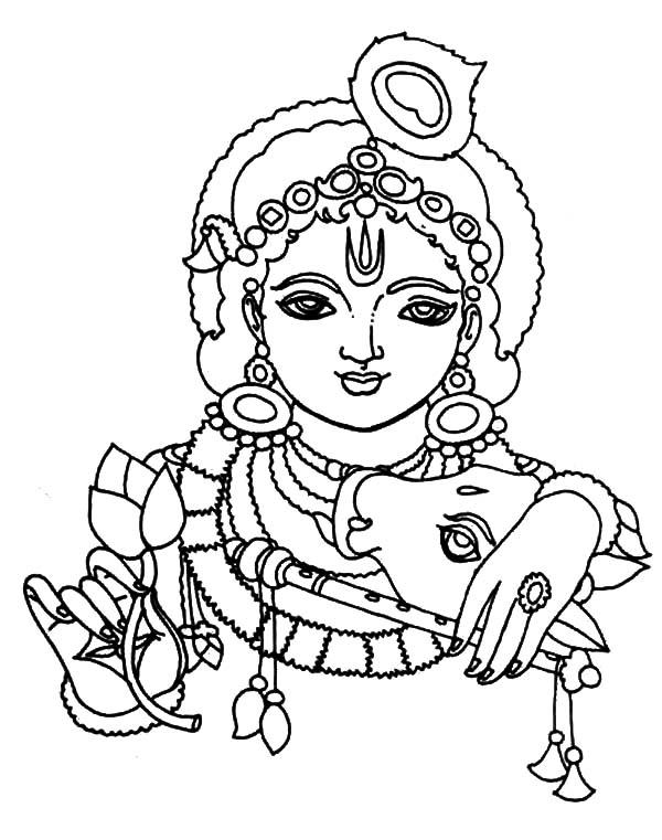 Iskcon Krishna Coloring Pages