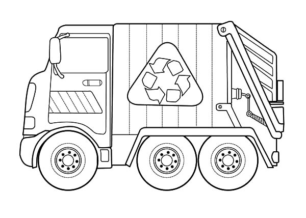 Garbage Truck Coloring Pages: Garbage Truck Coloring Pages
