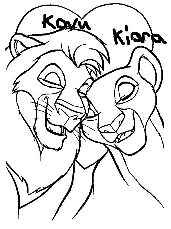 Mufasa And Nala Are In Love The Lion King Coloring Page
