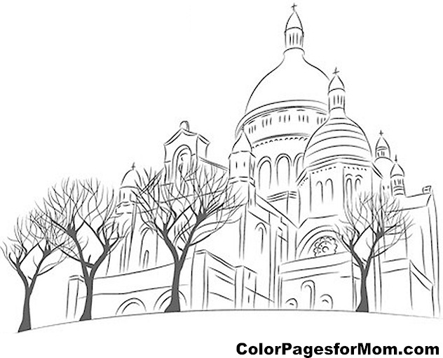 Church Coloring Page 13