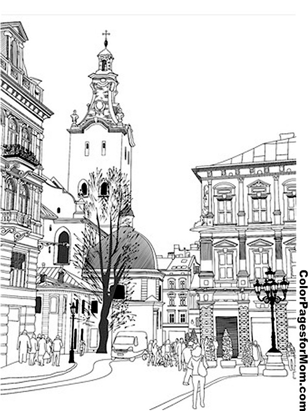 City Coloring Page 14