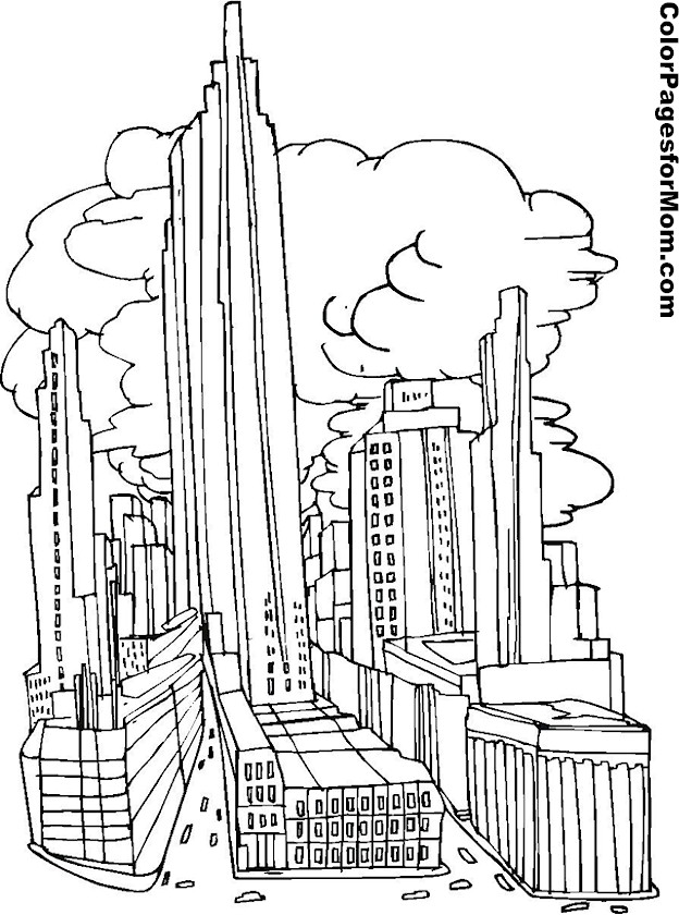 Building Coloring Page 5