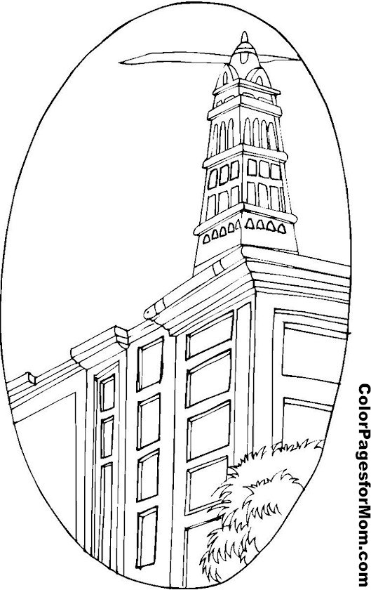 Building Coloring Page 8