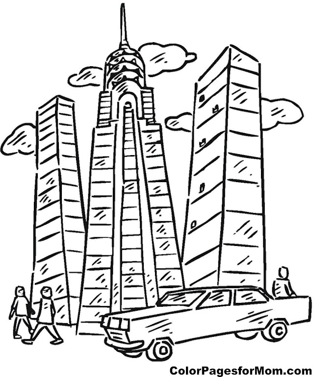 Building Coloring Page 9