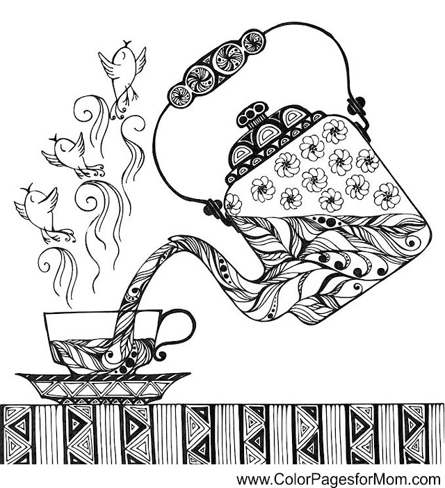 Advanced Coloring Pages Coffee coloring page 33