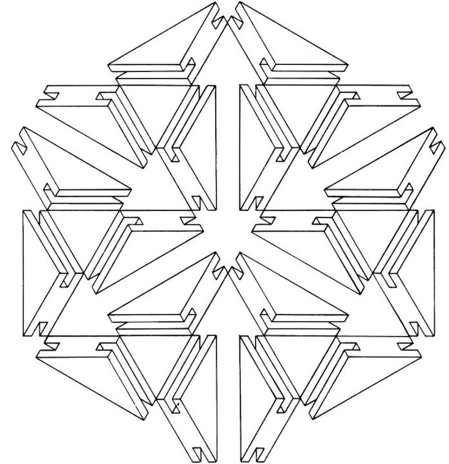 Optical Illusion Abstract Coloring Pages