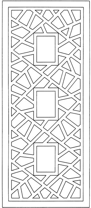 geometric coloring page # 18