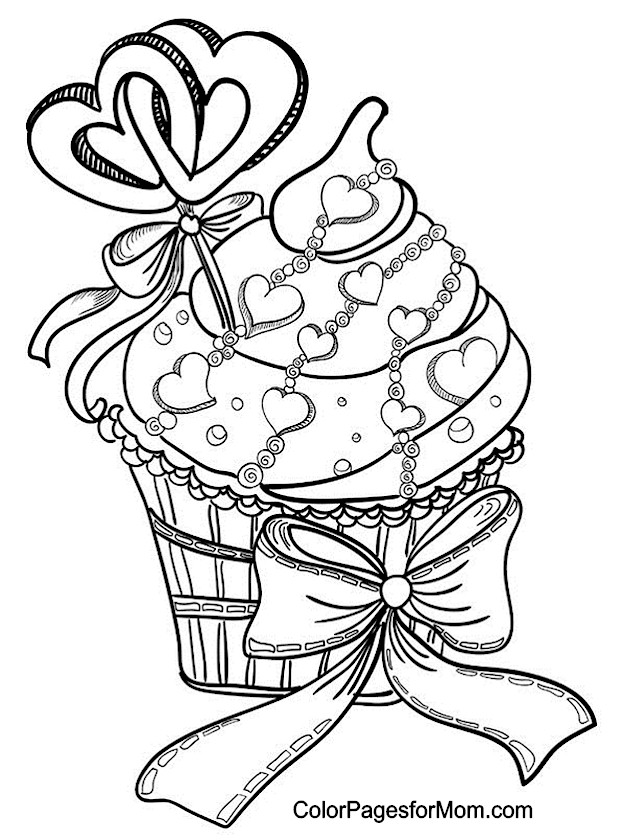 Hearts 9 Advanced Coloring Page