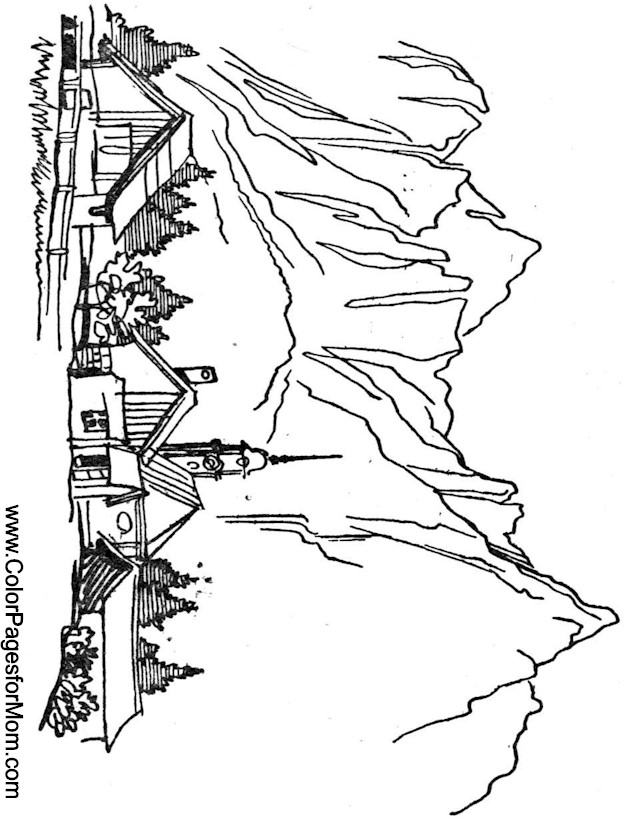 Landscape Coloring Page 18
