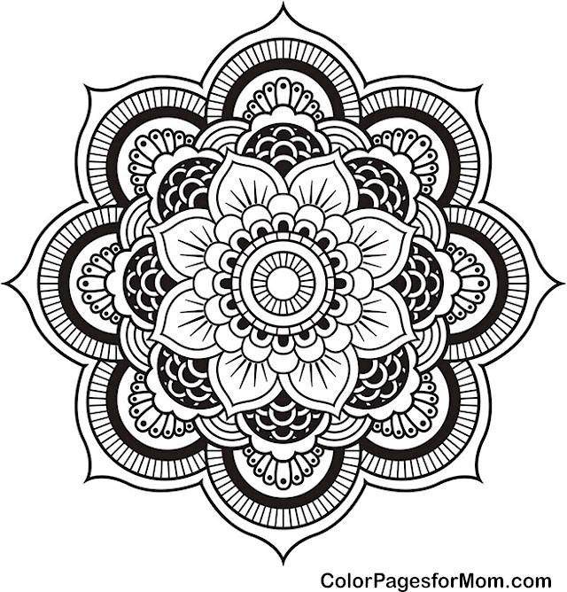 Mandala 4 Advanced Coloring Page