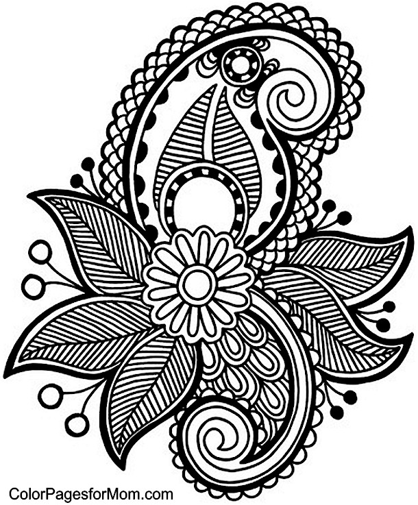Paisley Coloring Page