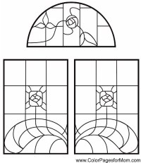 Large Stained Glass Coloring Pages Easy Coloring Pages