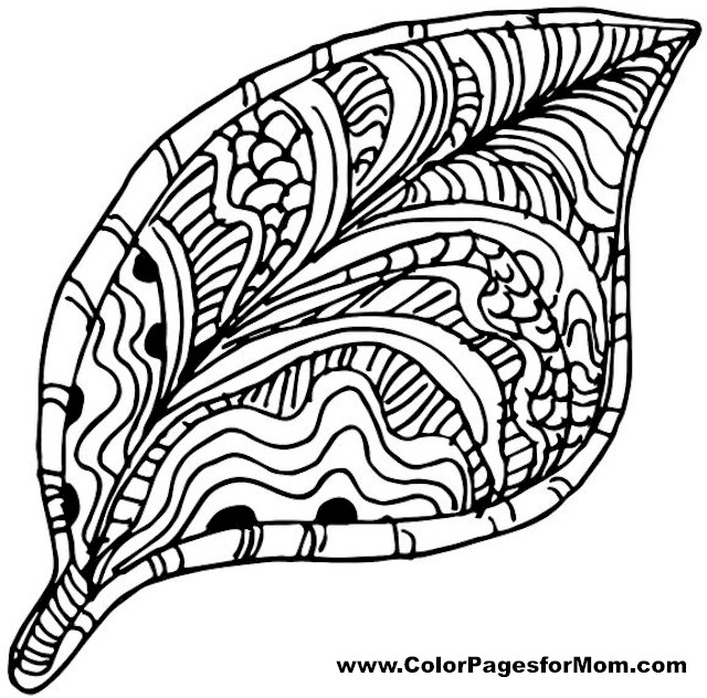 Advanced Leaves Coloring Page 25