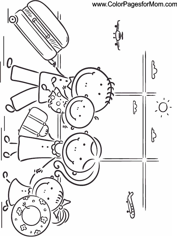 Vacation Coloring Page 25