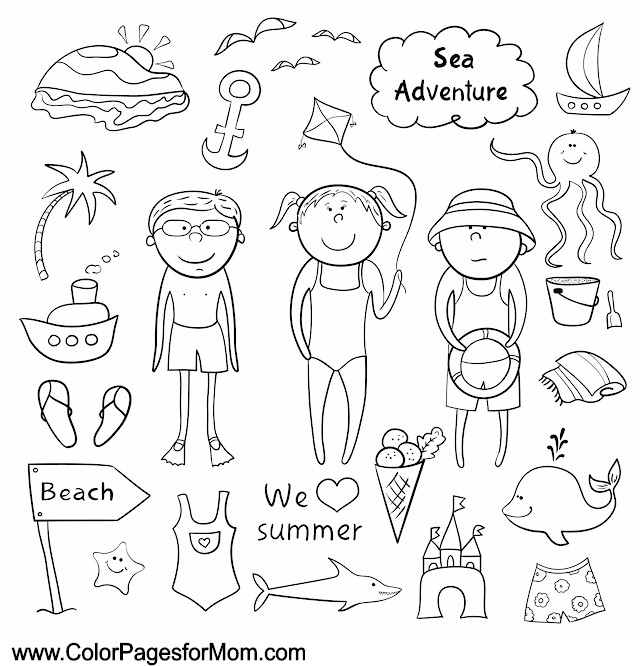 Vacation Coloring Page 26