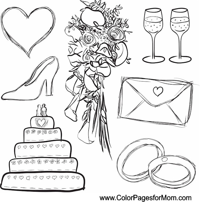 I Do Wedding Printable Coloring Pages Coloring Pages