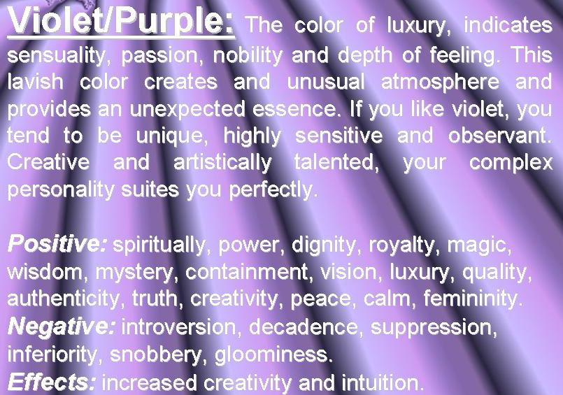 purple color psychology purple