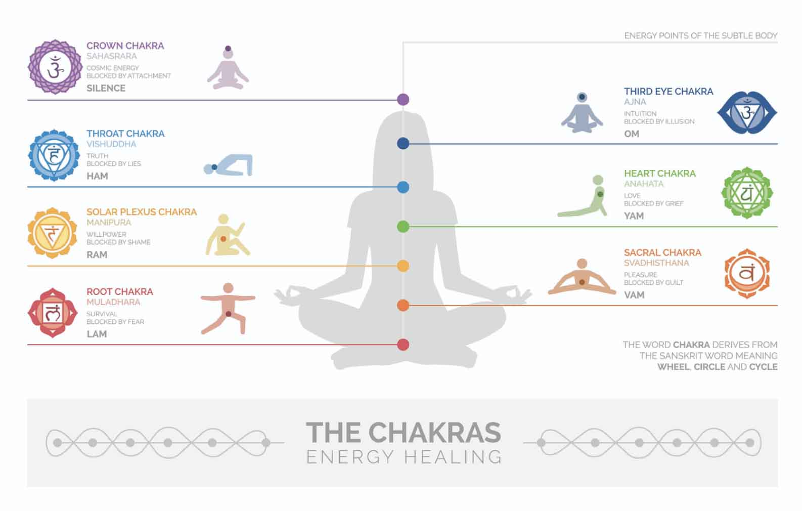 hight resolution of diagram of chakra