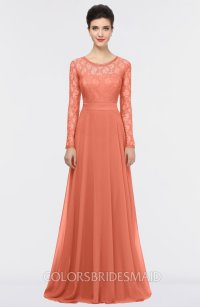 ColsBM Shelly Persimmon Orange Bridesmaid Dresses ...