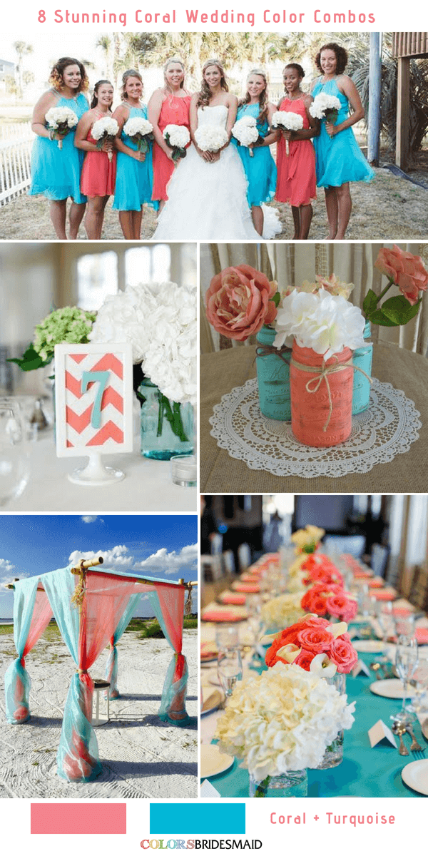 8 Stunning Coral Wedding Color Combinations Youll Love