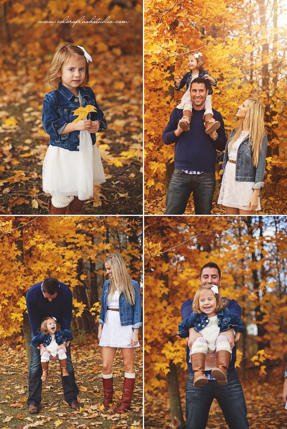 Byers Family Fall Photos Kalamazoo Family Photographer  Color Splash Studio  Kalamazoo Family
