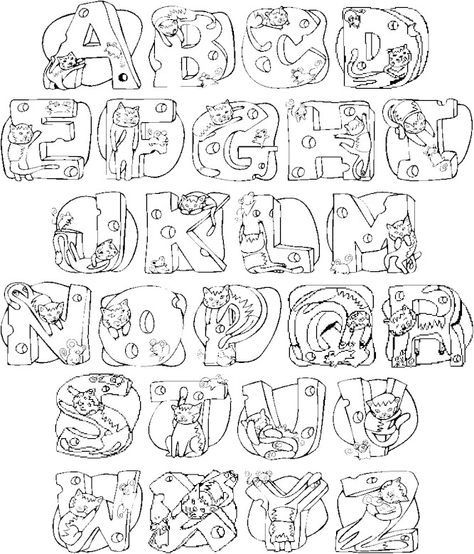Alphabet Coloring Pages