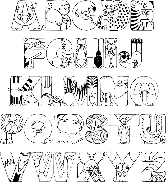Full Alphabet Coloring Page