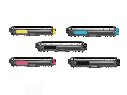 Brother TN225 5-Pack Remanufactured Toner Set