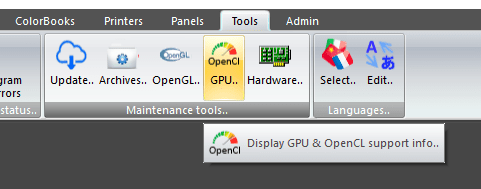 OpenCL info