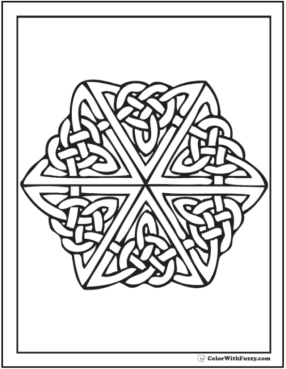 Fuzzy's Printable Coloring Pages