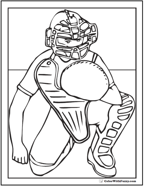 Baseball Coloring Pages: Customize And Print PDF