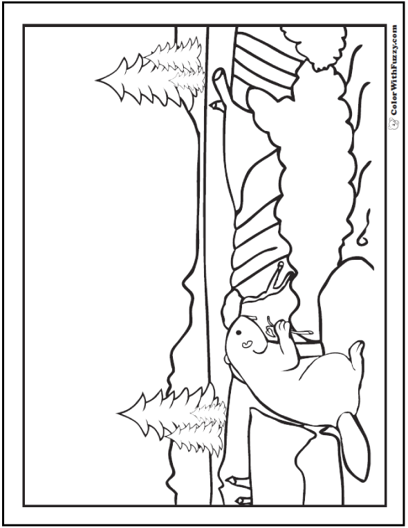Beaver Coloring Pages: Beaver Dams And Habitat