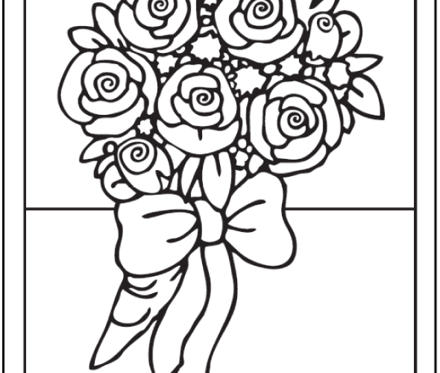 Rose Coloring Pages  E C A Customize Pdf Printables