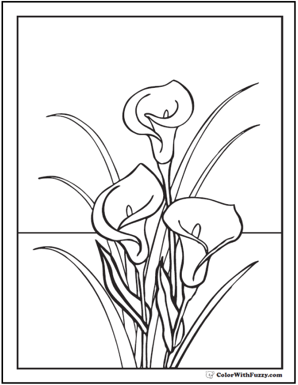 Lily Coloring Pages: Customize 12+ PDF Printables