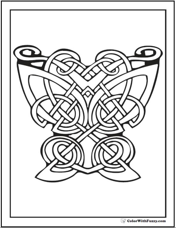 90 Celtic Coloring Pages Irish, Scottish, Gaelic