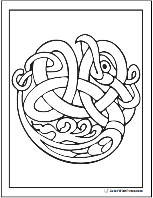90 Celtic Coloring Pages: Irish, Scottish, Gaelic