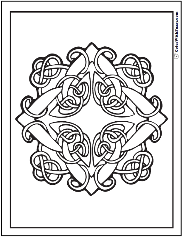 Celtic Knot Colouring Pages Coloring Page