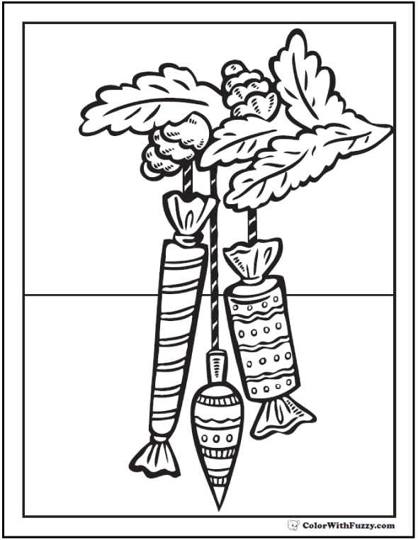 Christmas Coloring Sheet: Tree Candies